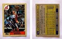 Chris Bando Signed 1987 Topps #322 Card Cleveland Indians Auto Autograph