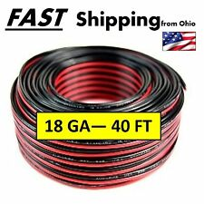 Automotive Hook Up Wire - 40 feet - - Red & Black - - Speaker Wire - - 18 Gauge