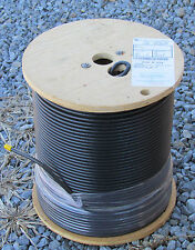 TIMES FIBER COAXIAL CABLE TFC AMPHENOL T6T77-LTVBV RG-6 FLOODED 1000' TRI-SHIELD