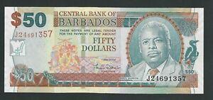 BARBADOS 50 DOLLARS  2007  P- 70a  UNC