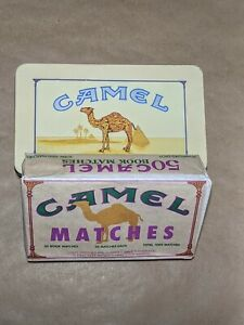 Vintage Camel Tobacco Tin Collectible With Unopened Matches Package 1990s