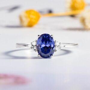 Luxus Ring Tansanit Topas Saphir London Blau Steine Echt Silber 925 Silberring.