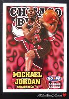 Michael Jordan 1997-98 NBA Hoops League Leader Insert Chicago Bulls Basketball#1