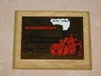 "VINTAGE 5"" X 4"" 1832-1982 AMERICAN LAFRANCE  150TH ANNIVERSARY ELMIRA NY PLAQUE"