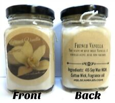 6oz French Vanilla - Victorian Square Glass Jar Soy Candle (with essential Oil)