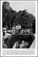 1928 Queen Isabella Spain Towers of Alhambra vintage photo article ads61