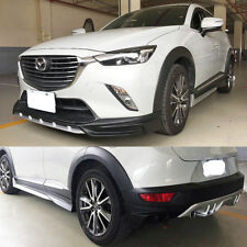 Fit For Mazda CX3 Trunk Body Kits Bumper+ Diffuser+Front+ Lips+Side Skirt