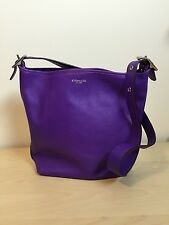 Coach legacy leather ultraviolet purple duffle duffel
