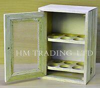 12 Chicken eggs Wooden Cabinet Holder Cupboard Storage Stand Rack Kitchen