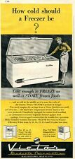 1952 Print Ad of Victor Freezer Chest how cold should a freezer be?