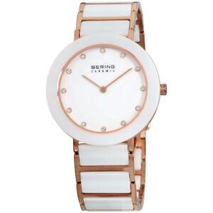 Bering Ceramic Quartz Movement White Dial Ladies Watch 11435-766