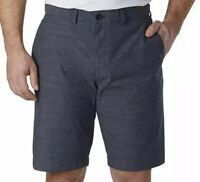 Tommy Hilfiger Mens Size 40W Classic Fit Flat Front Shorts Blue Striped NWT