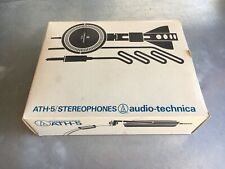 Vintage Audio-Technica ATH-5 Headphones In Original Box Nice