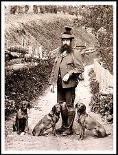 Hungarian Vizsla Gentleman And Dogs Lovely Vintage Image On Dog Print Poster