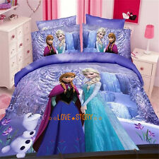 Purple Frozen Single Bed Quilt/Doona/Duvet Cover Set Pillow Case Bedding Sets