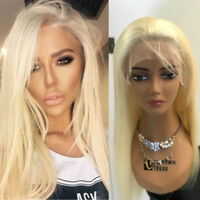 Peruvian Human Hair Wig Lace Front Pre Plucked Wigs Women Natural Glueless 613C