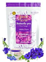 Dried 30 Tea bags Butterfly pea tea flower dried Origin in Thailand Natural