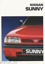 Nissan Sunny Prospekt 1994 11/94 deutsche Ausgabe brochure brosjyre catalog