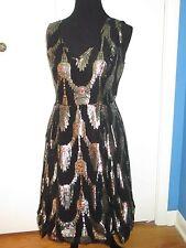 Ruby Belle Size 8 Fellini Prom Dress Black Gold NWT