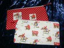 """MINI Cowboy"" realizzata a mano utilizzando Cath Kidston Fabric MAKE UP BAG / matita caso"