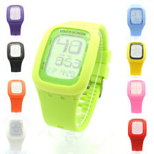 Unisex Touch Screen Digital Silicone Band Wrist Watch