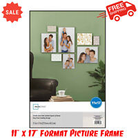 "11"" x 17"" Format Picture Frame, Black, Home Decor, Durable Polystyrene Plastic"