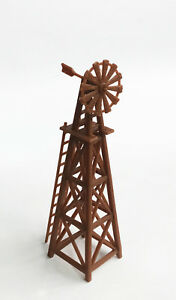 Outland Models Railway Layout Country Farm Windmill (Brown) HO OO Gauge