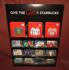Give the Gift of Starbucks 2016 Holiday Gift Card Display w/ 146 Original Cards
