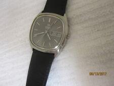 Omega Quartz Vintage Wrist Watch- / Signed Strap- Parts, Restoration- NO RESERVE