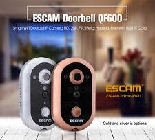 ESCAM Wireless WiFi Remote Video HD Camera Door Phone Doorbell Home Security
