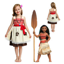 Children Summer Cotton Moana Dress Up for Girls Party Cosplay Casual Clothing