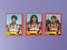 3 FIGURINE VALLARDI 1989-90 MILAN RIJKAARD GULLIT VAN BASTEN 1989-90 NEW-FIO