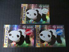 Ty Beanie Babies Bboc Series I S1 ~ Red Blue Silver Retired Card 17 Peking