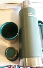 Vintage Stanley Classic Thermos Hammertone Green Vacuum Bottle Cold HotTeaCoffee