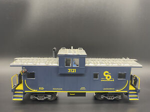 """K-LINE TRAIN K613-1251 CHESAPEAKE & OHIO """"O"""" SCALE EXTENDED VISION CABOOSE"""