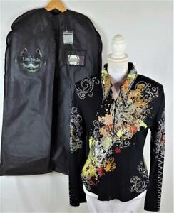 Lisa Nelle OOAK Equestrian Western Pleasure Jacket & Bag,1000 Crystals XL, NWOT