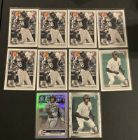 (10) 2020 BOWMAN LUIS ROBERT RC LOT OF 10 CHICAGO WHITE SOX ROOKIE CARD HOLO