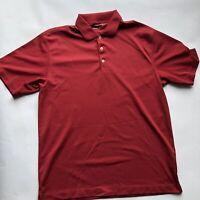 Nike Dri Fit Shirt Mens M Short Sleeve Golf Polo Red Athletic Tour Performance