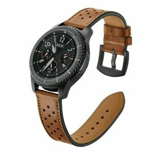 Leather Watch Band For Samsung Galaxy Watch 3 45mm Gear S3 Huami Amazfit 22mm