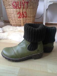 El Naturalista Boots-Stiefel-Grün-Echtleder 37-Schuhe