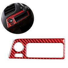 For Chevrolet Corvette C7 Red Carbon Fiber Interior Headlight Switch Trim Cover
