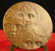 """Médaille Querolle Medal 勋章 Monnaie de Paris 1976 Village d""""enfants"""