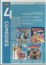 4 COMEDIES HOT DOG..THE MOVIE MEATBALLS 4 PARTY ANIMALS NEW MGM DVD