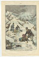GUARDIA DI FINANZA - 1903 - INVERNO IN APRILE - UN ATTO EROICO E PIETOSO