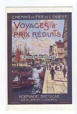 su3221 - Chemins de Fer de L'Ouest - Voyages a Prix Reduits - Advert postcard