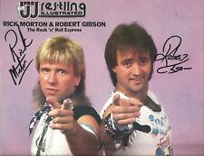 Eb1124 Rock and Roll Express signed Pwi Wrestling Magazine Poster w/ Coa