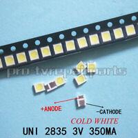 100pcs 3528 2835 3V Lamp Beads for LED TV Backlight Strip,Repair TV