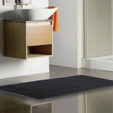 "Non-Slip Back Rug Soft Bathroom Carpet Memory Foam Bath Mat 24"" x 60"" Black"