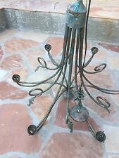 Vintage Antique COPPER CHANDELIER With Leaf's & Vines , nice Patina 4 Collectors