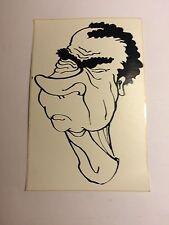 Lot of 2 Richard Nixon Sticker watergate  Vintage /new Drawing Blk & White